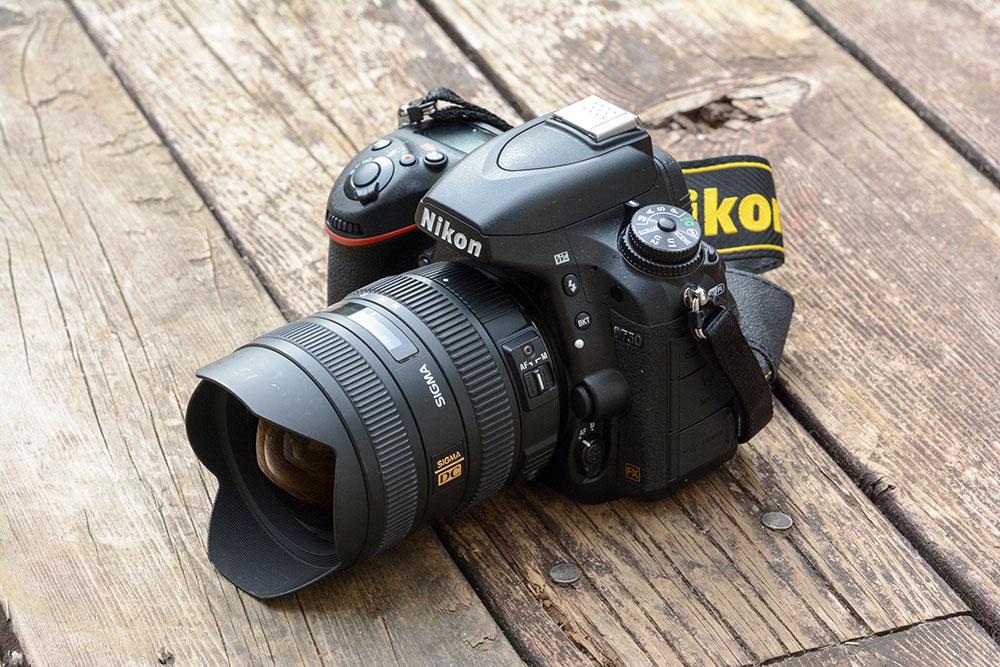 Nikon D750にSigma8-16mmをつけてみた